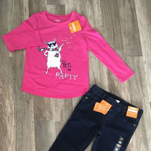 Lot of 2 Girls Gymboree l/s Top & Jeans sz 5/6 NWT